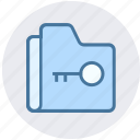 archive, data, folder, key, security, storage icon