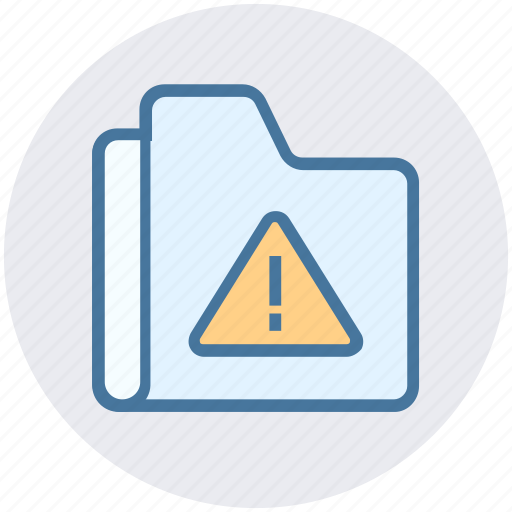 alert, files, folder, interface, storage, warning icon