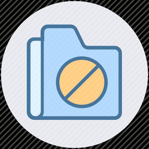 archive, ban, cancel, data, folder, forbidden icon