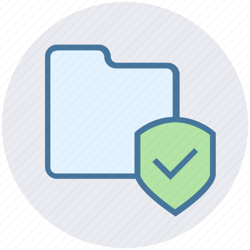 archive, data, folder, secure, security, shield icon