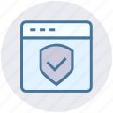 page, secure, security, shield, web, website icon