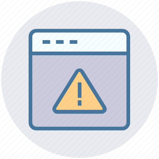 alert, page, security, warning, web, website icon