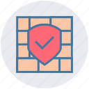 brick, firewall, protection, shield, wall icon