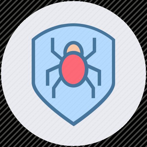 antivirus, bug, protection, security, shield icon