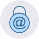at, lock, padlock, password, protected, safe, security icon
