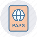 id, pass, passport, ticket, travel, visa icon