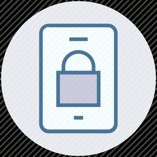 lock, mobile, mobile lock, security, smartphone icon