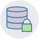 data, database, encryption, lock, secure, security icon