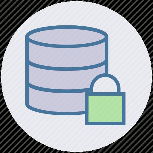 data, database, encryption, lock, secure, security icon