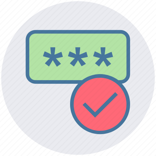 accept, code, cyber, password, security icon