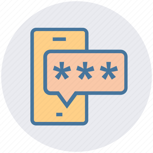 code, mobile, mobile password, password, phone, security icon