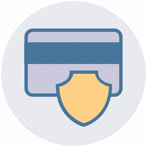 atm card, credit card, debit card, safe, security, shield icon