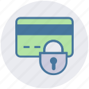 atm card, credit card, debit card, lock, secure, security icon