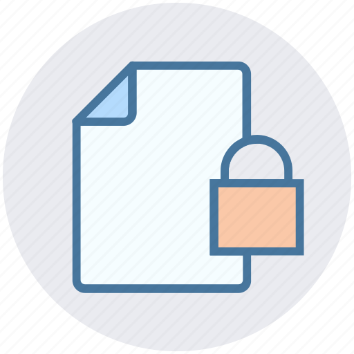 documents safe, list, lock, paper, security icon