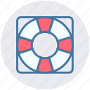 lifebelt, lifebuoy, lifeguard, lifesaver, safety, security icon