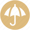 insurance, investment, protection, rain, security, umbrella icon