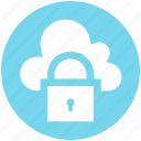 cloud, lock, private, secure, security, sky