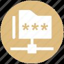 communication, folder, folder code, network, password, security