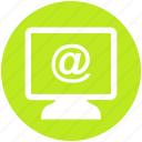 at, email, lcd, online, screen, sign icon
