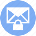 envelope, letter, lock, protection, secure mail, security
