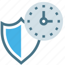 24 hours, access, clock, safety, security, services, shield icon