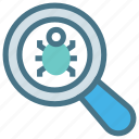 detection, bug, scanning, search, magnifier, antivirus, avast icon