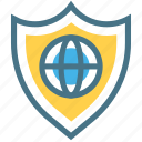 cyber, globe, protection, safety, secure, shield, world