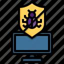 antivirus, bug, target, virus, insect, computer