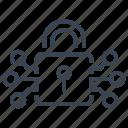 padlock, encryption, digital, lock, protection, security