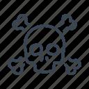 skull, ransomware, virus, attack, malware
