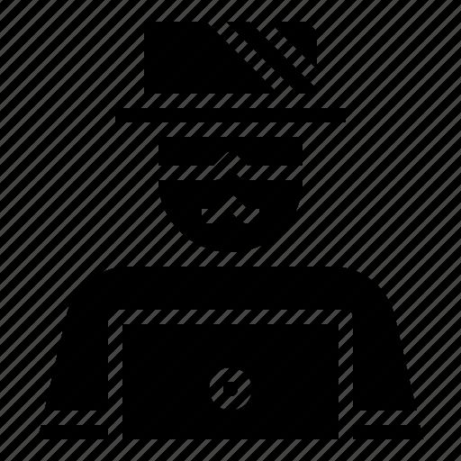 avatar, computing, criminal, hacker, jobs, professions, user icon
