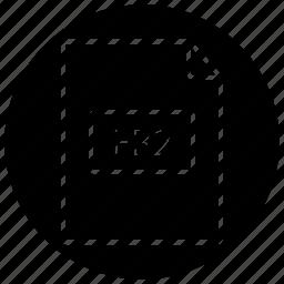 book, cycle, extension, fb2 icon, file icon, type icon icon