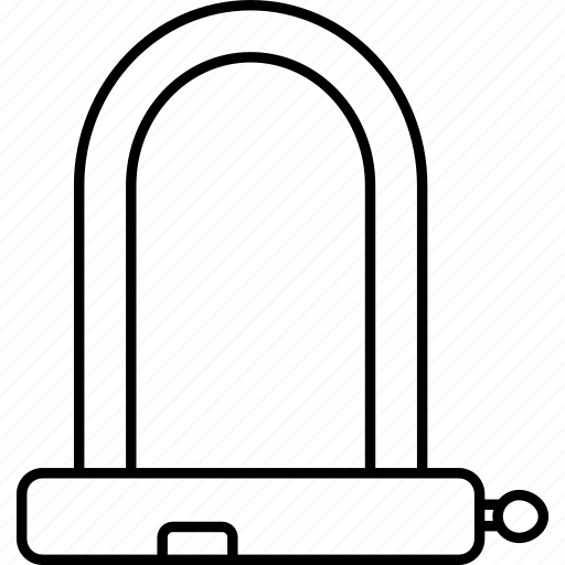 cycle, cycling, d, lock, padlock, safe, secure icon