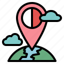 location, map, pin, signs icon