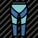 bike, leggings, sport, trouser icon