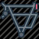bag, bike, carrier, luggage, rack