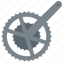 bicycle, chainring, crankarm, front, gear, pedal