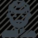 avatar, biker, cyclist, helmet, male
