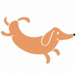 animal, canine, dachshund, dog, happy, hop, pet icon