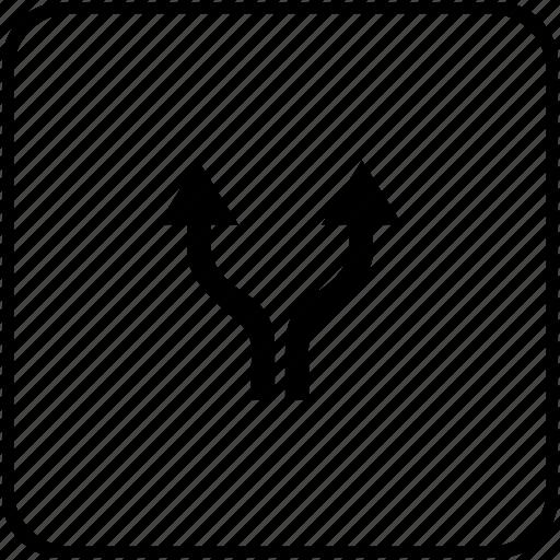 function, keyboard, operation, separate, split, vertical icon