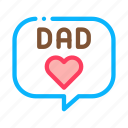 beard, dad, daddy, father, love, message, parent icon