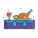 chicken, food, general, restaurant, wine icon