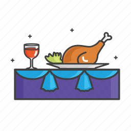 chicken, food, general, restaurant, wine icon