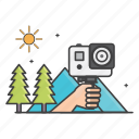 action camera, actioncam, camera, general, mountain, nature, outdor icon