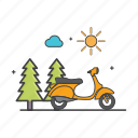 daylight, general, motorcycle, nature, scooter icon