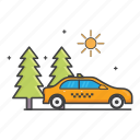 daylight, general, nature, road, taxi icon