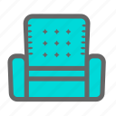 armchair, comfort, daily, living room, objects, relax, sofa icon