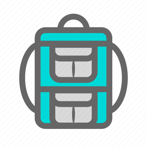 backpack, backpacker, carry, daily, objects, school, work icon