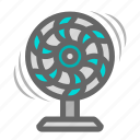 air, daily, fan, fresh air, heat, objects, wind icon