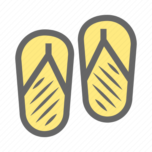 casual, daily, feet, flipflop, footwear, objects, sandals icon